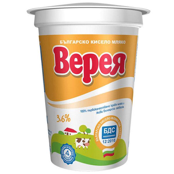 Кисело мляко Верея БДС 3.6% 400гр